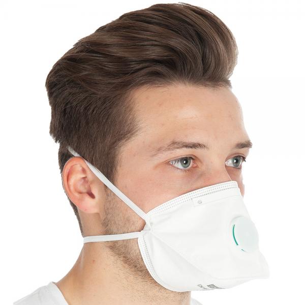 Atemschutzmaske FFP3 mit Ventil faltbar weiss