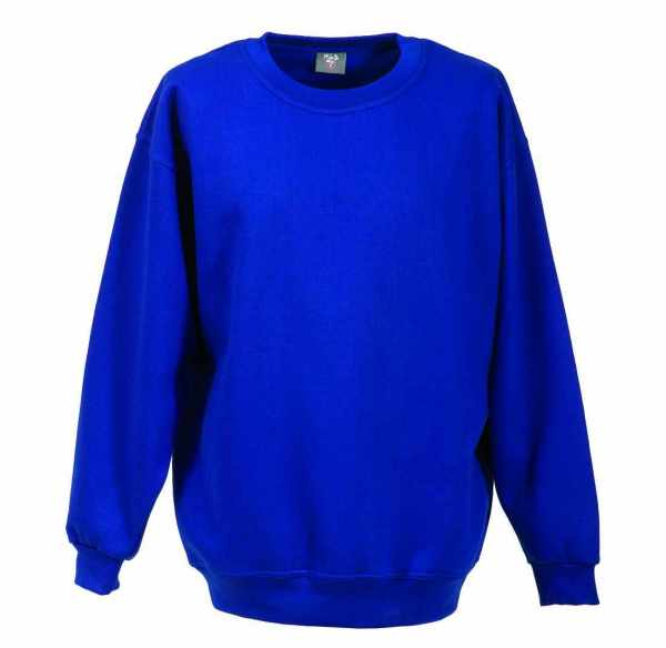 Langarm Sweat-Shirt mit Rundkragen royalblau XS - 5XL
