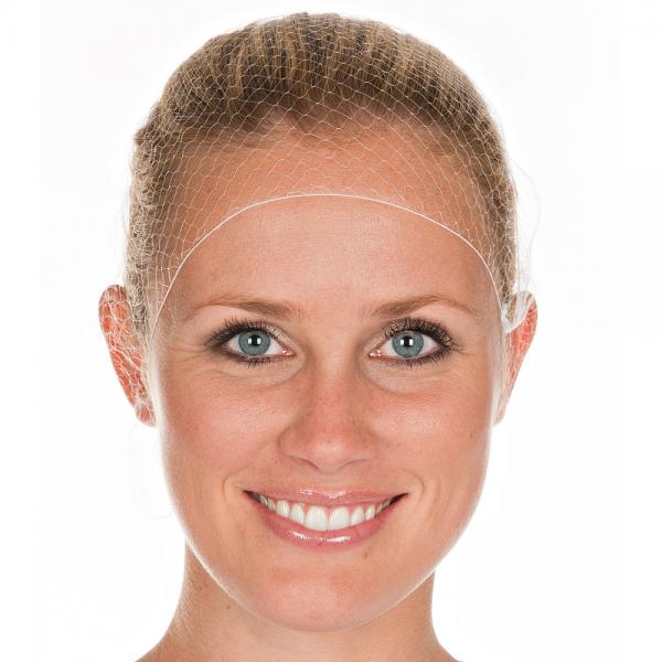 Haarnetz auf Pappscheibe Ø 55 cm weiß