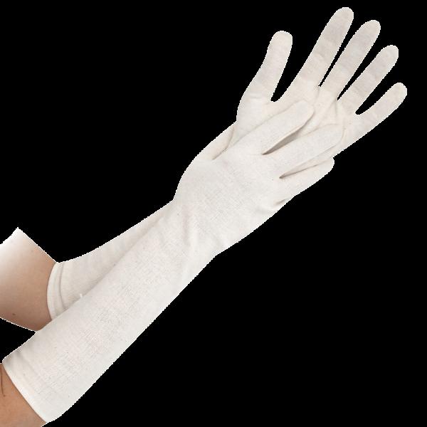 Baumwoll-Handschuh NATURE L, 45 cm, natur