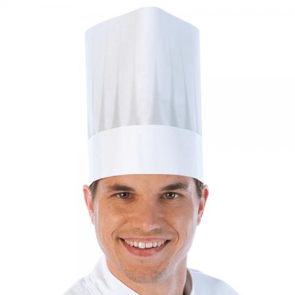 Kochmütze DAS ORIGINAL verstellbar, 21 cm, weiß