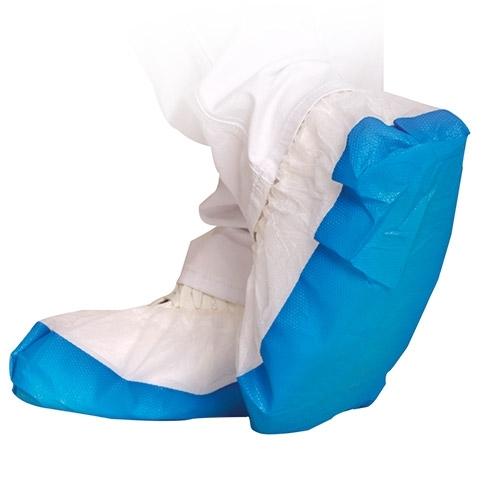 Überschuhe weiß-blau SAFE von HYGOSTAR - VE 500 Stück