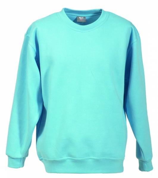 Langarm Sweat-Shirt mit Rundkragen himmelblau XS - 5XL
