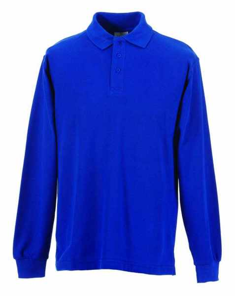 Langarm Polo-Shirt royalblau