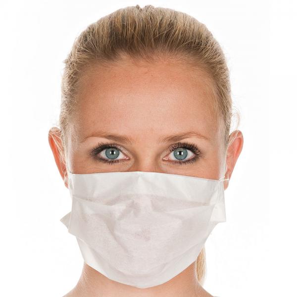 Mundschutz aus Tissue 1-lagig weiß