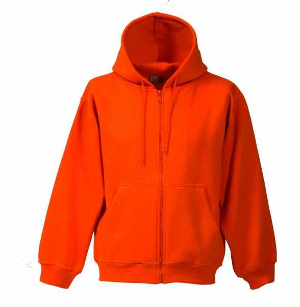Kapuzen-Sweat-Jacke orange