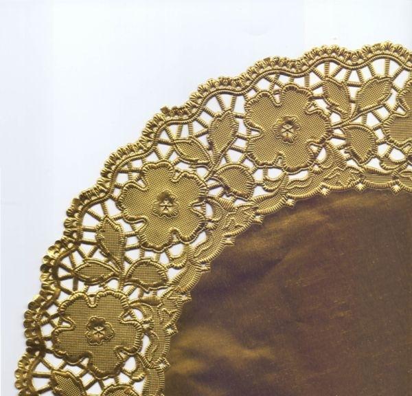 Tortenspitze gold