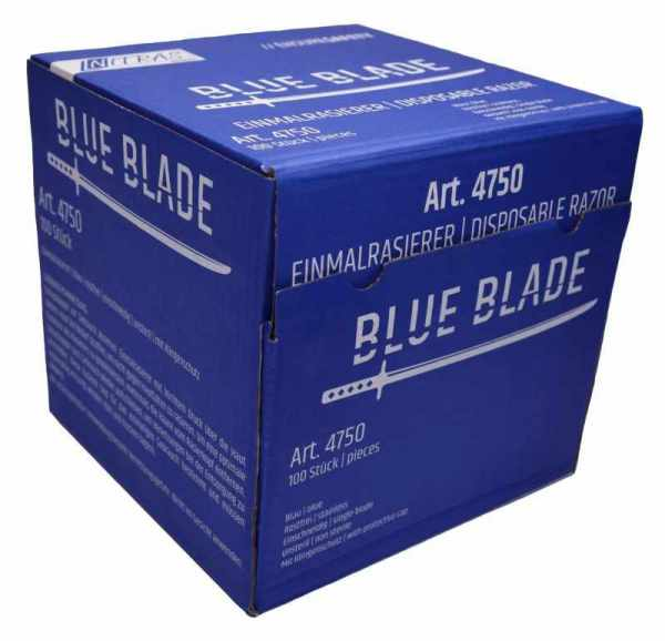 Einmalrasierer blau