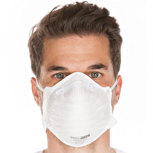 Atemschutzmaske FFP1 ohne Ventil weiss von HYGOSTAR - VE 20 Stück