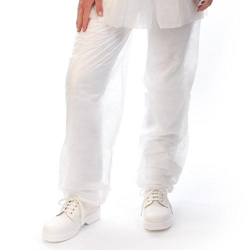 Einweg-Hose weiß aus PP-Vlies