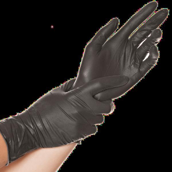 Latex-Handschuh DIABLO, puderfrei, 24 cm, schwarz