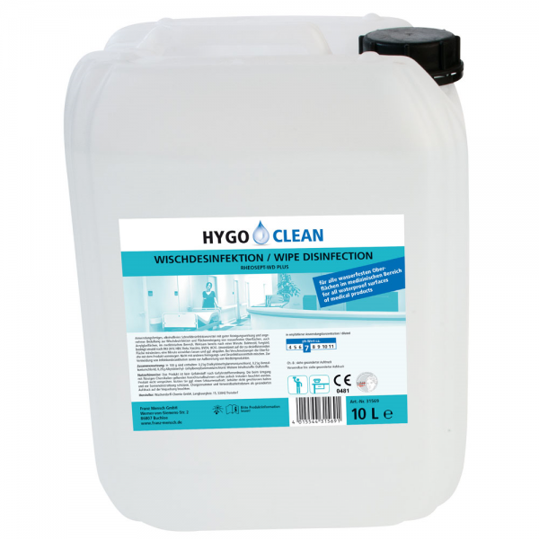 Wisch-Desinfektion transparent 10 Liter