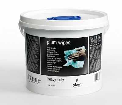 Plum Wipes Heavy-Duty 150Stk/Eimer - PLUM