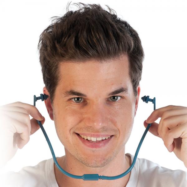 Bügel-Gehörschutz, detektierbar blau