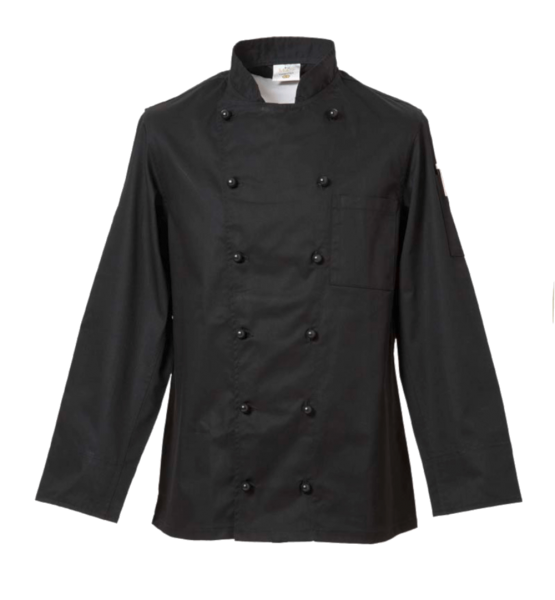 Kochjacke schwarz DELUXE