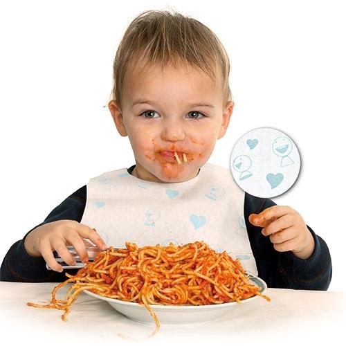 Einmal-Lätzchen für Kinder JOLLY - HYGOSTAR - VE 30 Stck
