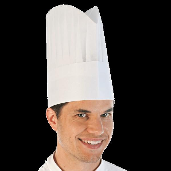 Kochmütze EXCELLENT verstellbar, 23 cm, weiß