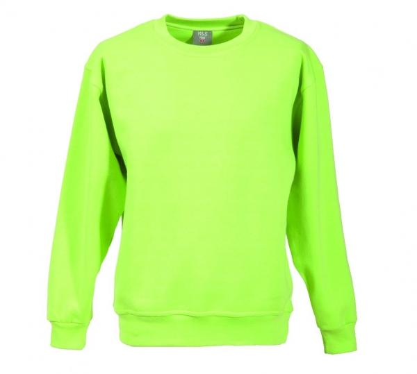 Langarm Sweat-Shirt mit Rundkragen apfelgrün XS - 5XL