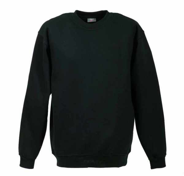 Langarm Sweat-Shirt mit Rundkragen schwarz XS - 5XL