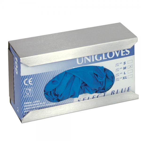 Halter für Einmalhandschuhe Edelstahl, silber, 24,8x13 x 9,2 cm