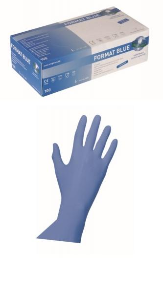 Nitrilhandschuhe Format blue