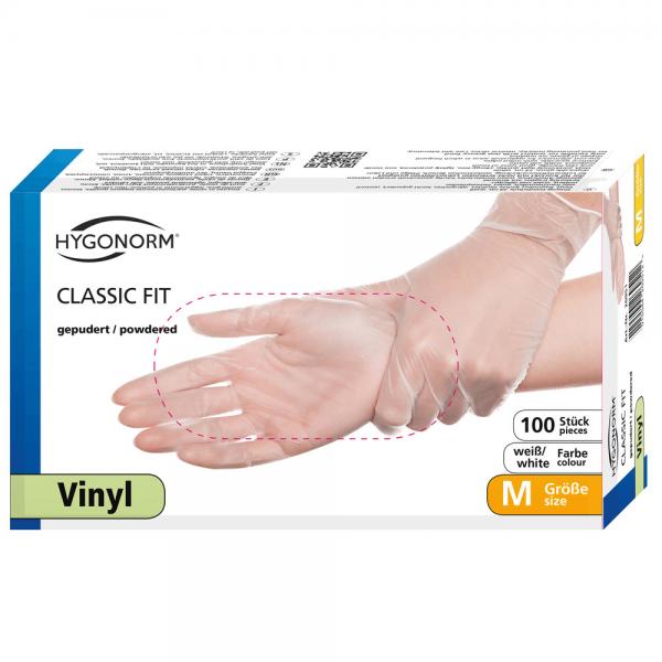 Vinylhandschuhe CLASSIC FIT, gepudert - Box