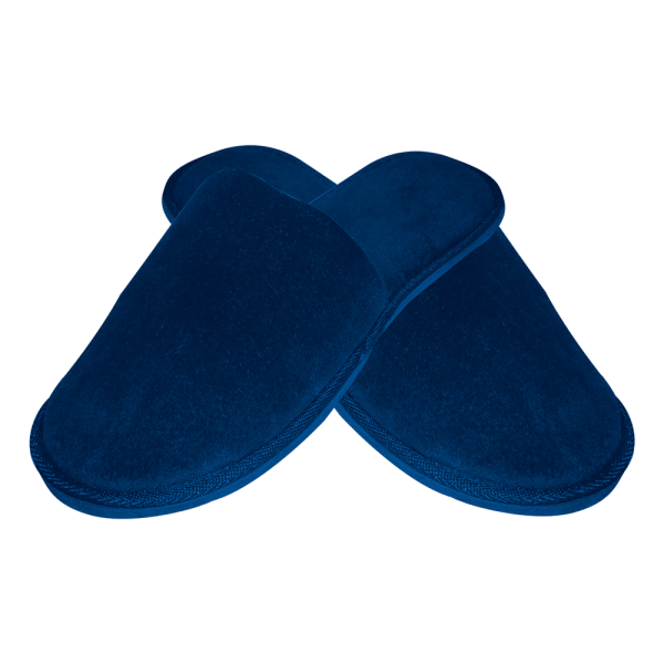 Hotelslipper blau geschlossen DELUXE von HYGOSTAR - VE 100 Paar