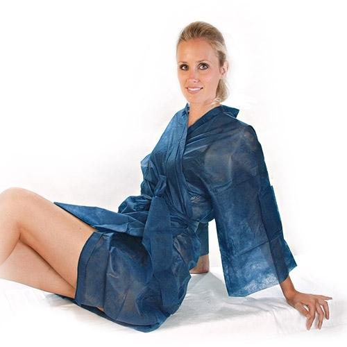 Einmal - Kimono dunkelblau 100 x 140 cm HYGOSTAR - VE 100 Stck