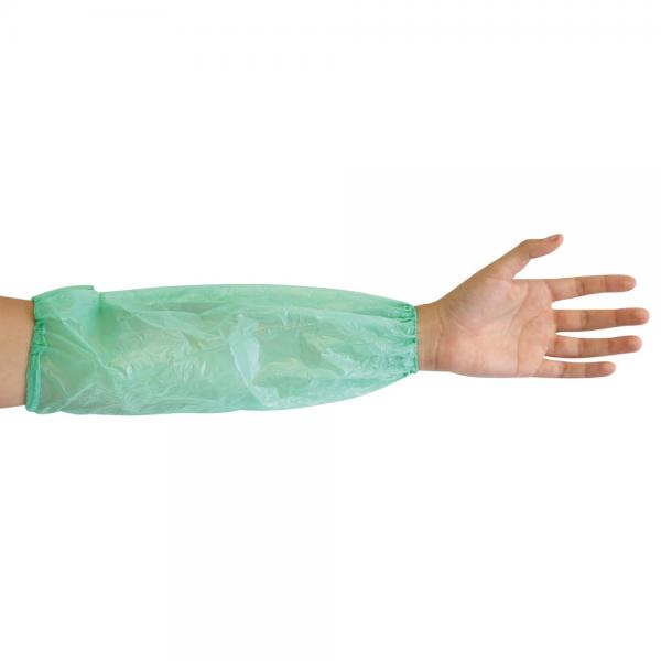 Schutzärmel grün aus Polyethylen 20 my