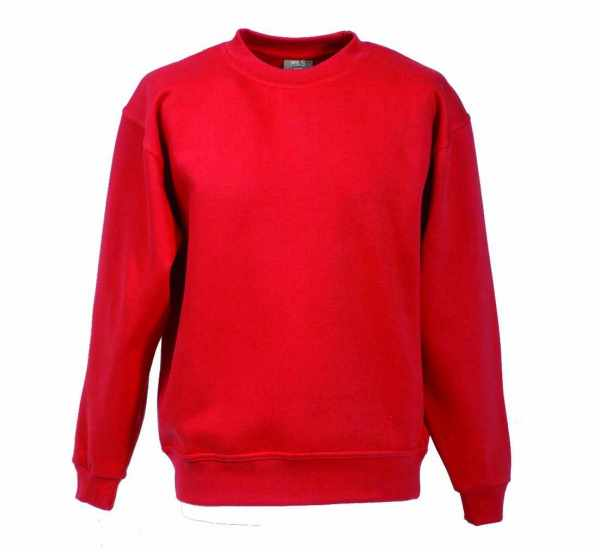 Langarm Sweat-Shirt mit Rundkragen rot XS - 5XL