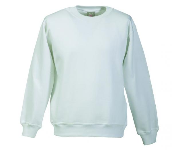Langarm Sweat-Shirt mit Rundkragen weiß XS - 5XL