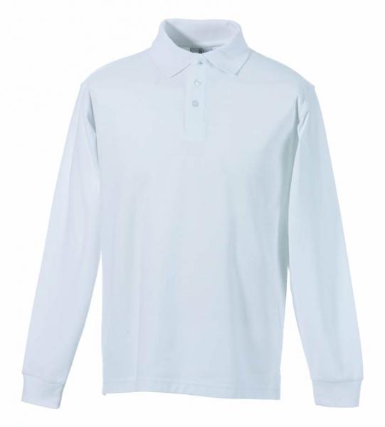 Langarm Polo-Shirt weiß