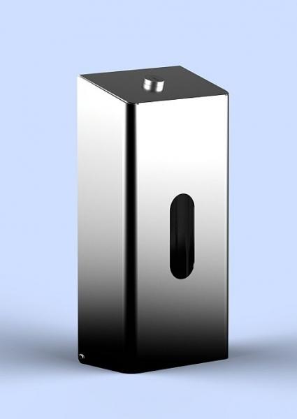 Box für Kosmetiktücher aus Edelstahl - abschließbar