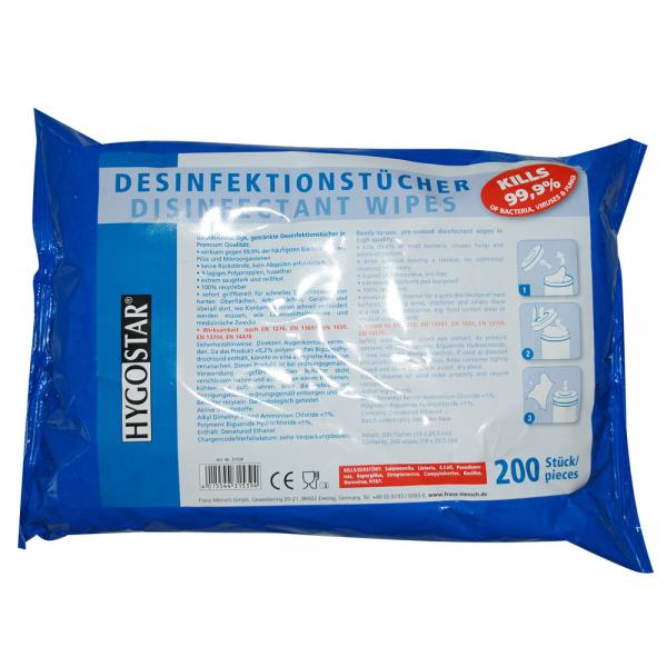 Desinfektionstücher 20x20 cm Nachfüllpack blau