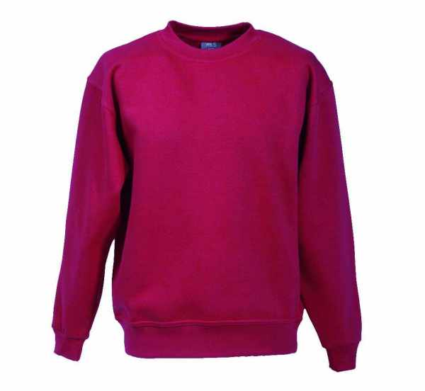 Langarm Sweat-Shirt mit Rundkragen bordeaux XS - 5XL