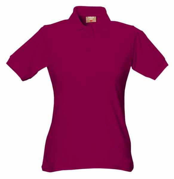 Damen Polo-Shirt bordeaux