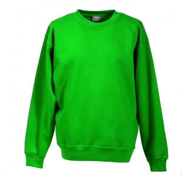 Langarm Sweat-Shirt mit Rundkragen grün XS - 5XL