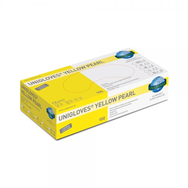 Nitril-Handschuhe gelb, puderfrei - YELLOW PEARL
