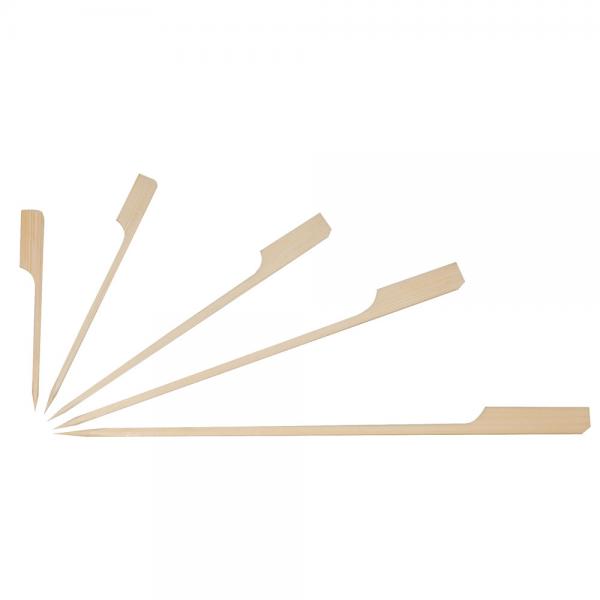 Bambus-Fingerfood Spieße FLAG natur 12 cm von NATUREStar - VE 250 Stck