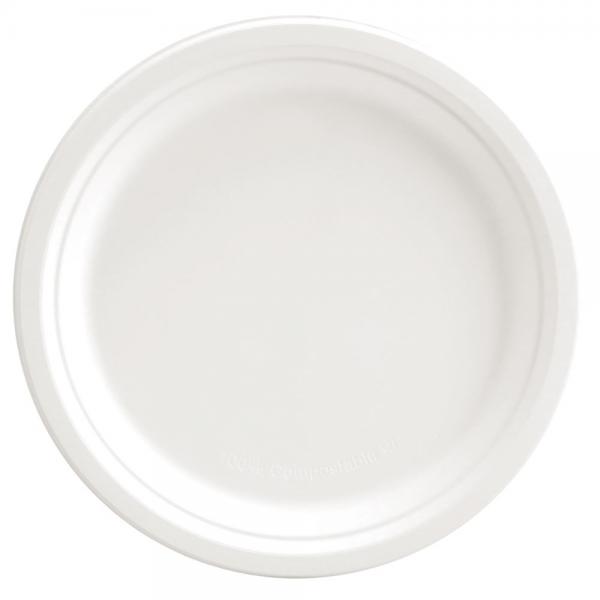Bio-Teller weiß rund Ø 22,4 cm von NATUREStar - VE 1.000 Stck.
