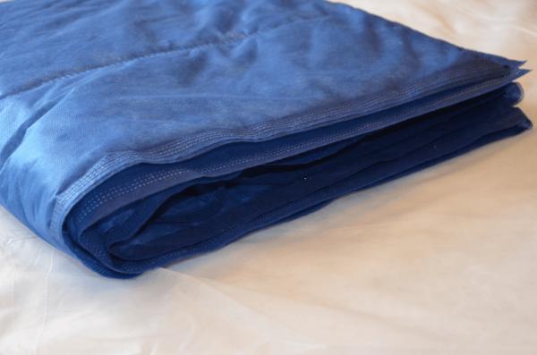 Einmal-Decke gesteppt blau von REINTEX