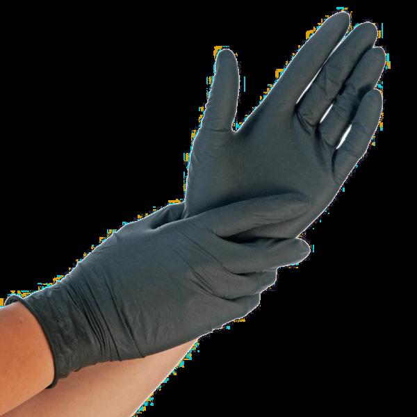 Nitrilhandschuhe EXTRA SAFE, puderfrei, schwarz