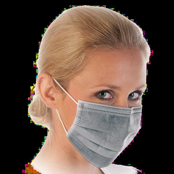Mundschutz mit Aktivkohle-Filter, filtert schlechte Gerüche, grau HYGOSTAR - VE 50 Stck