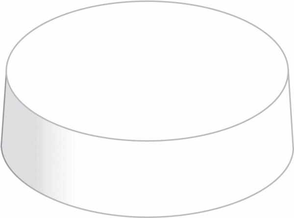 Glasabdeckungen Caps aus Mattkarton weiß 200 Stück