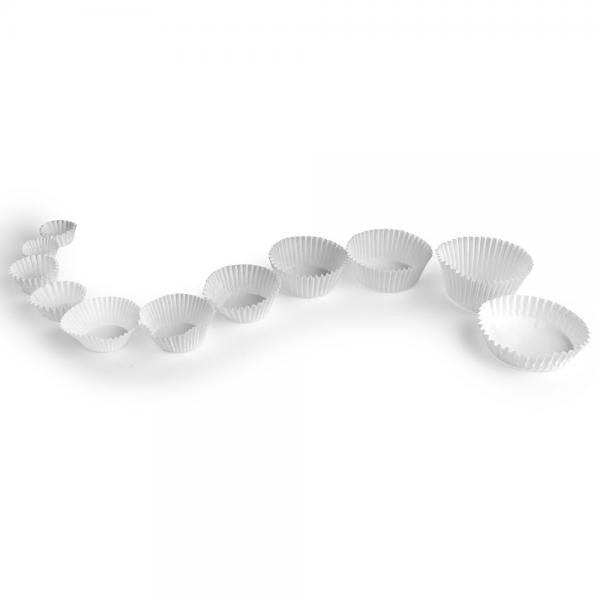 Backkapsel Muffinform weiß Ø 26 mm Höhe 16 mm Papier