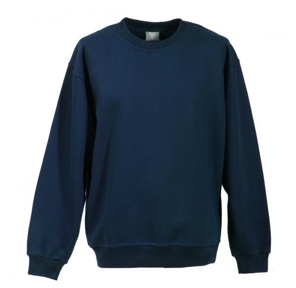 Langarm Sweat-Shirt mit Rundkragen marineblau XS - 5XL