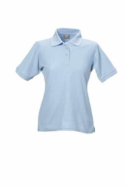 Damen Polo-Shirt himmelblau