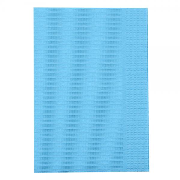Patientenservietten Zahnarzt hellblau 33 x 46 cm