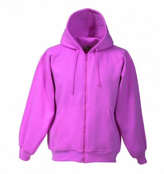 Kapuzen-Sweat-Jacke pink