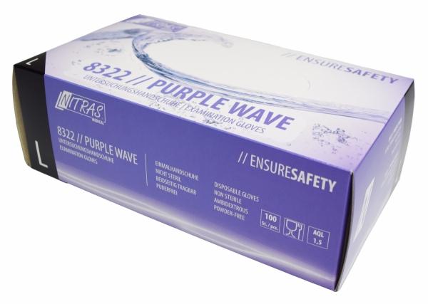 Nitrilhandschuhe violett PURPLE WAVE puderfrei von NITRAS - 10x100 Stück